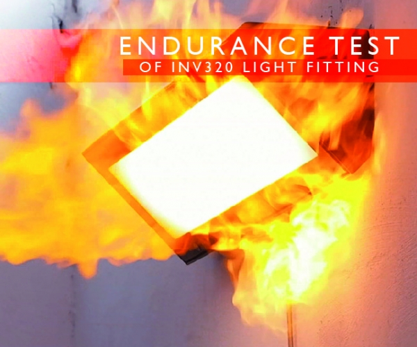 Endurance test of INV320 light fitting