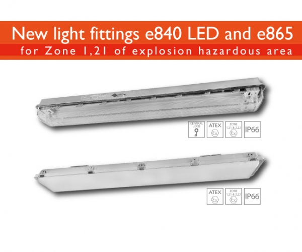 New light fittings: e840 LED and e865